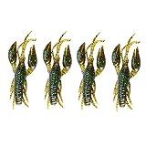 Demeras Livliknande kräftor snabbt sjunkande bete fiske kräftor för abborrefiske efter användning i en Texas rigg eller som (såsgrön, 1#)