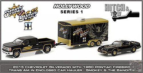 greenlight-164-hollywood-hitch-tow-smokey-and-the-bandit-1980-pontiac-trans-am-2015-chevrolet-silver