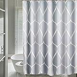 HuaForCity Duschvorhang 240x200cm Textil,Anti-Schimmel Badvorhang 200cm höhe für Badezimmer,Waschbarer Shower Curtain mit 12 Ringe