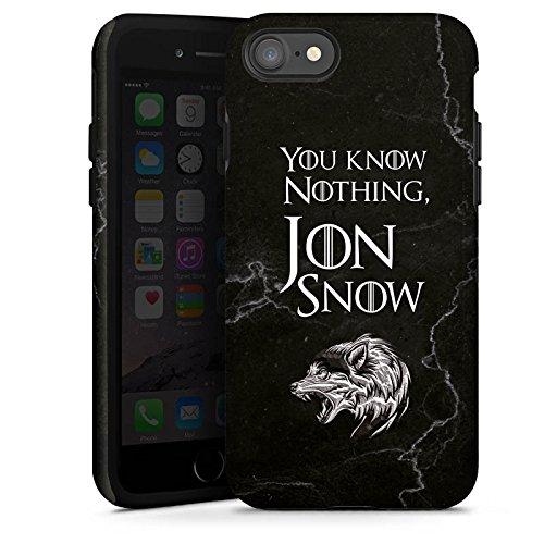 Apple iPhone 8 Hülle Case Handyhülle Jon Snow GOT Game of Thrones Tough Case glänzend