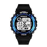 OdeJoy Elektronisch SportUhren ModeHerren Digital LED Analog Quarz Alarm Datum Handgelenk Uhr Fashion Smart Watches Wasserdicht Sportlich Armbanduhren Digitaluhren (Blau,1 PC)