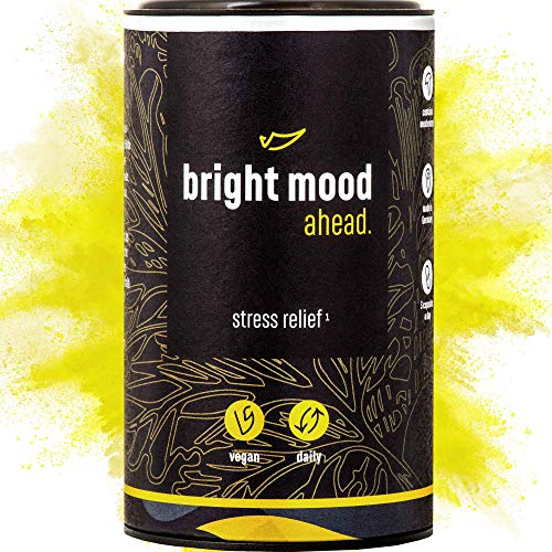 ahead® BRIGHT MOOD | Natürlicher Stimmungsaufheller mit Vitamin B6 für mehr Ausgeglichenheit und Wohlbefinden* | L-Tryptophan, 5-HTP, Reishi, B12 | | 90 vegane Kapseln