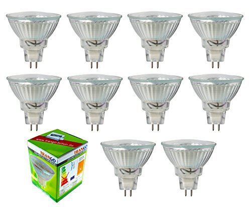 10er Set TGMR16030 3.0 Watt dimmbar MR16 GU5.3 LED Leuchtmittel (10x3.0Watt)