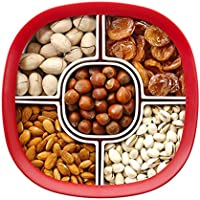 Chekue Sectional Snack Serving Trays for Parties and Home, 5