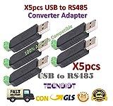 TECNOIOT - 5 adattatori USB a RS485 485 per Win7 XP Vista Linux Mac OS
