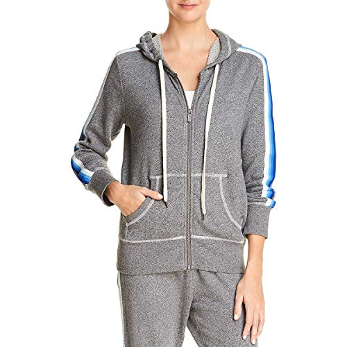 Splendid Womens French Terry Stripped Hoodie Gray S Womens French Terry Hoodie