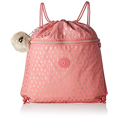 Kipling Supertaboo Kid's Sports Bag, 45 cm, 15 liters, Pink (Pink Gold Drop) - childrens-sports-bags, childrens-bags