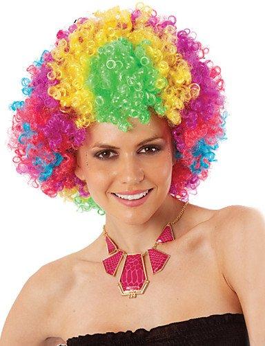 Mode Perücken WIGSTYLE Fabrik Großhandel Halloween Karneval Urlaub Partei Perücken für feine, mehrfarbige synthetische (Afro Perücken Großhandel)