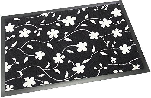 Schmutzfangmatte / Fußmatte 40 x 60 cm, Fußabstreifer Floralia, mit schönem Blumenmotiv: Blüten,...