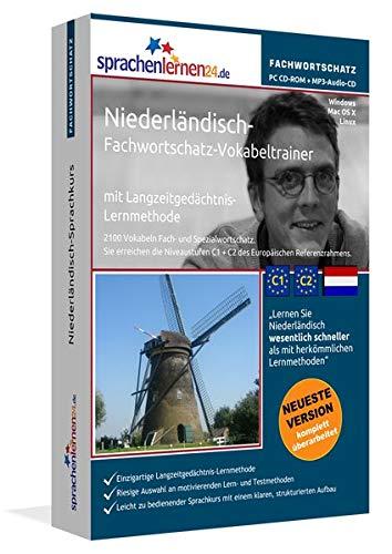 Niederländisch-Fachwortschatz-Vokabeltrainer mit Langzeitgedächtnis-Lernmethode von Sprachenlernen24: 2100 Vokabeln und Redewendungen. PC CD-ROM+MP3-AudioCD. Für Windows 10,8,7,Vista,XP/Linux/Mac OS X