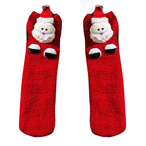 Lenfesh Mädchen Jungen Baby Mesh Weihnachten Print Floral Handtuch warme kurze Cartoon dicke Socken Weihnachtssocken Winter Warme Socken (Floral Print Handtücher)