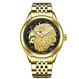 Orologi Relojorologio Meccanico Automatico Luminoso Svizzero Da Donna Orologio Da Donna Drago E Fenice Coppia Great Eagle Golden Black