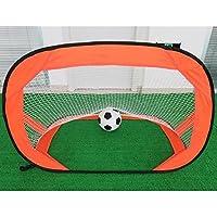 LouisaYork Red de Entrenamiento de fútbol para niños, portería de fútbol, para niños, para Patio Trasero, Interior y Exterior, Color Naranja, tamaño 120x85x85cm