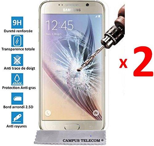 2 Films Vitre Verre Trempé de protection écran pour Samsung Galaxy Core 4G (G386F) by Campus Telecom®