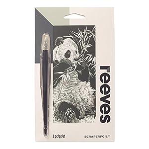 Reeves - Creatividad - Tarjeta de Raspar - Mini, plata - Panda