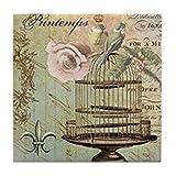 CafePress–Französischer Vintage Shabby Chic Vogelkäfig–Tile Untersetzer, Drink Untersetzer, Untersetzer, Klein