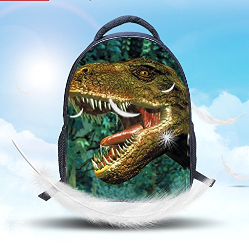 DoGeek Dinosauro Zaino Scuola Zainetti 3D Stampa Zaini Bambini Sacchetto di Scuola Borse a tracolla unisex multicolore nylon Zaini per Ragazza Ragazzo dinosauro 2