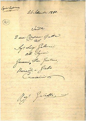 Vendita di una possessione detta San Bernardino o Pigozzi posta nel comune di Crevalcore nel Quartiere Albero