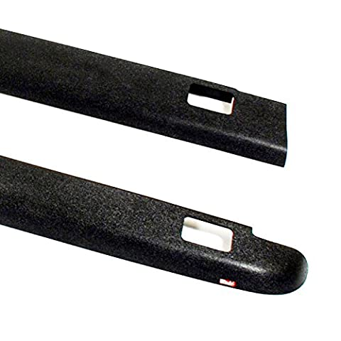 Wade 72-41111 Truck Bed Rail Caps Black Smooth Finish with