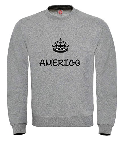 Felpa Amerigo - Print Your Name Black