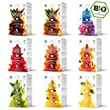 Bestseller Box - 9 x 16 BIO Teekapseln von My-TeaCup | Dolce Gusto®-kompatible und kompostierbare Kapseln ohne Aluminium ohne Plastik | 144 Kapseln 9 Sorten