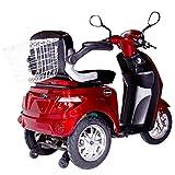 Rolektro E-Trike 25 Rot mit EU Zulassung Elektroroller E-Scooter 600 W Motor 50 KM Reichweite 25 KmH Höchstgeschwindigkeit Eroller E-roller Elektro-Roller Scooter elektrisches Dreirad 3-Rad Vergleich