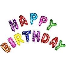Globos Cumpleaños Happy Birthday, Globo Grande de Aluminio Happy Birthday, Vegbirt Decoraciónes Cumpleaños Globos para Fiesta de Cumpleaños (Vistoso)