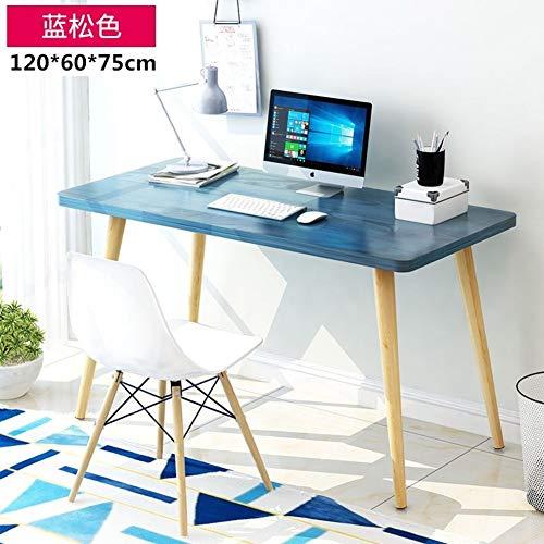 YQ WHJB Home Office Große Computer Schreibtisch,einfache Schreiben Computertisch,hölzerne Bein Rechteckige Study-Tabelle Multifunktöne Workstation-q 120x60x75cm(47x24x30inch) -