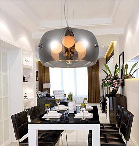 FXING Modernes, minimalistisches LED kreative Kronleuchter aus Glas (Farbe: Chrom Farbe, Größe: 40 cm)