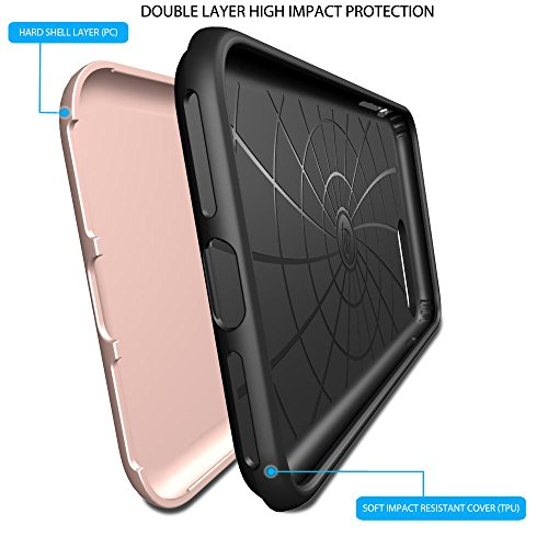 iPhone 7 Plus Fall, luvvitt [Super Armor], Case Best Heavy Duty Dual Layer Tough Cover für Apple iPhone 7 Plus rose gold