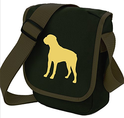 Bag Pixie - Borsa a tracolla Unisex �?Adulto Fawn Dog Olive Bag