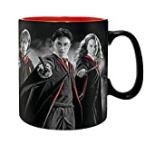 Harry Potter - Keramik Tasse - Harry Hermine Ron - Gryffindor - Wappen Logo- Geschenkbox