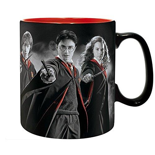 Hermine Kostüme Und Ron (Harry Potter - Keramik Tasse - Harry Hermine Ron - Gryffindor - Wappen Logo-)