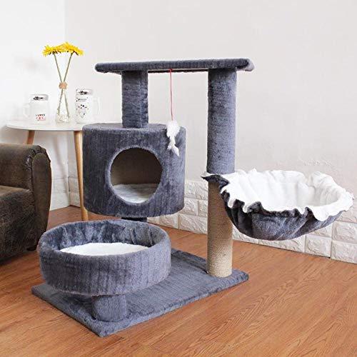 saczxra Katze Klettern Kratzen Wurf Spielzeug Springen Haus Villa Springen Katzenbedarf Katzenfenster Hängematte Kätzchen Betten Zwinger Regal@Style8_L -