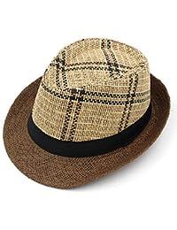 Hechgobuy Gorras Sombrero de Verano de Primavera Sombrero de Jazz Masculino  y Femenino Sombrero de Paja 7cb74611841