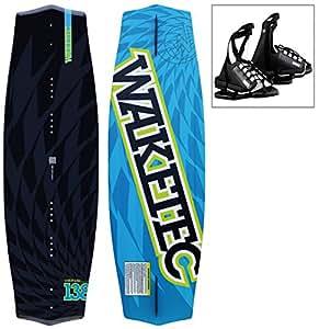 WAKETEC Wakeboard WildRide 138 cm, Package mit OnSet Bindung, Größe:S-M