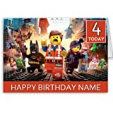 personalised lego movie birthday card