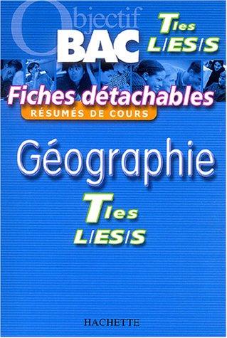Fiches détachables : Géographie, terminales