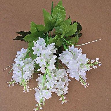 Polyester Hyacinth Künstliche Blumen , white