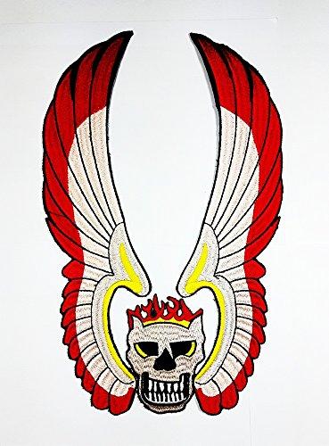 Prop Gang Biker MC motorcyclub geflügelten Skull Patch Sew Iron on gesticktes Badge Schild Kostüm (Geflügelte Kostüme)