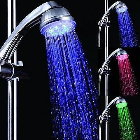 Piteng™ 7 colori romantici luce LED Top Spray soffione doccia