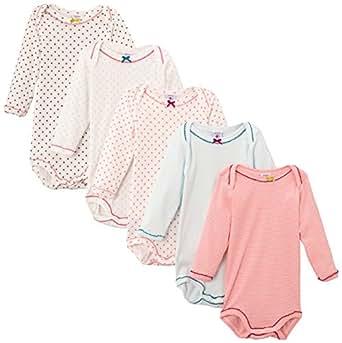 Petit Bateau Semainier - Body - Lot de 5 - Bébé fille - Multicolore (Special Lot 00) - FR: 24 mois (Taille fabricant: 24 mois)
