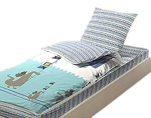 Bleu c lin caradou kit couchage complet 90x140 cm lit for Drap housse 90x140 pour lit evolutif