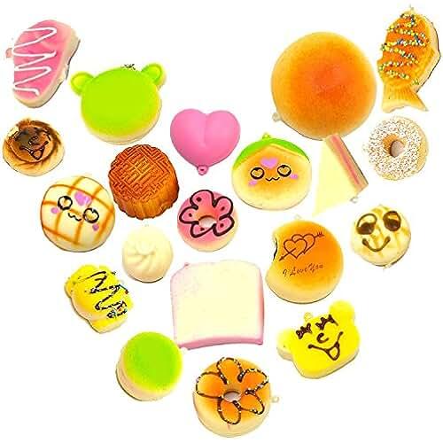 juguetes kawaii 10 x kawaii suaves blandos simulados alimentos colgantes/llavero/correas de la cadena del teléfono/accesorios adornos