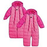 Nike Säugling/Kleinkind Baby Jungen oder Baby Mädchen' Sportkleidung umwandelbar Schneeanzug - Hyper Pink (A96) / schwarz/Hyper pink, 3-6 Monate