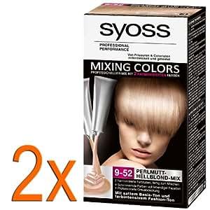 2 x Syoss la nacre de Couleurs se Mélangeant 9-52 mélange Très équitable basent et la Mode le ton, la couverture grise vivant la couleur plusieurs-faceted