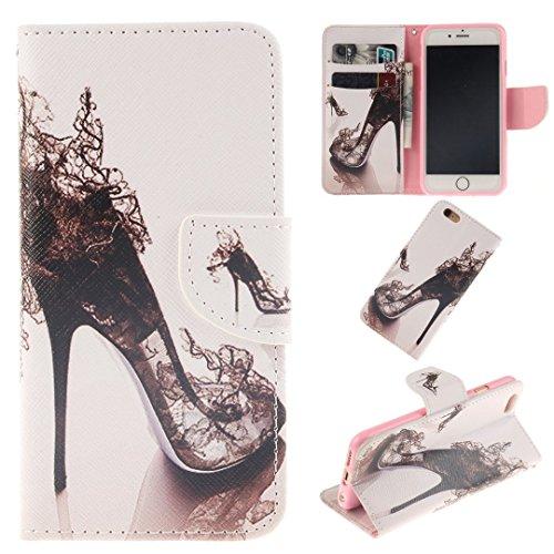 iPhone 6 / 6S Hülle im Bookstyle, Xf-fly® PU Leder Flip Wallet Case Cover Schutzhülle für Apple iPhone 6 / 6S(4.7 Zoll) Tasche Handytasche Schutz Etui Schale Handyhülle P-8