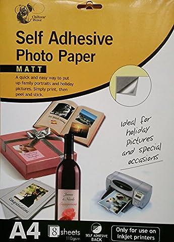18feuilles de format A4auto-adhésif papier photo/2paquets de 9