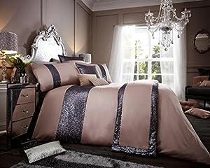 Luxury duvet cover sets with pillowcases polyester new (Glamorous Mink, Double Duvet Set)