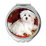 Yanteng Spiegel, Compact Mirror, Bulldog Puppies Hunde Haustiere Hund Download, Taschenspiegel, 1 X 2X Lupe